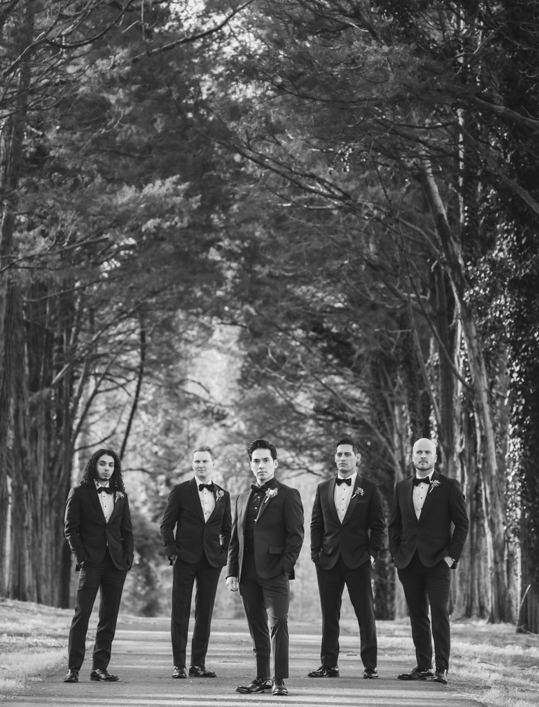 Groomsmen at Poplar Springs Manor wedding