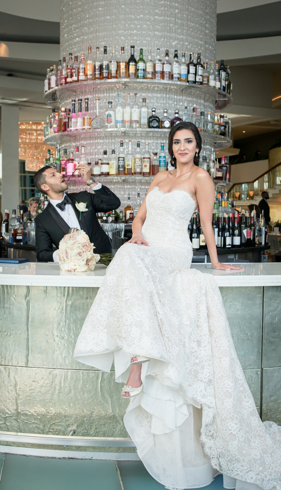 Greek Modern Elegant wedding at Fontainebleau Miami Beach Hotel