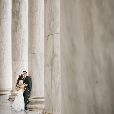 Thomas Jefferson Memorial Wedding Photos, washington D.C. Monuments Wedding Images
