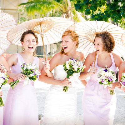 Florida Keys & Key West Wedding Photography Bridesmaids in Lila Dresses