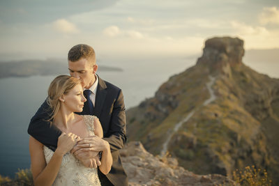 Destination Elopement Photography at Santorini Greece