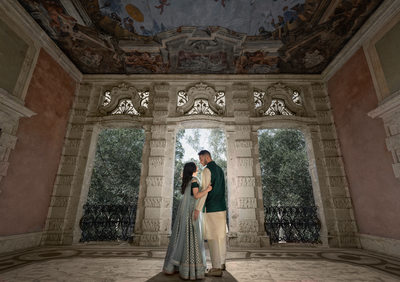 Elegant Indian wedding photography at Vizcaya Museum