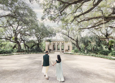 Vizcaya engagement photos: Garden Mound Oval Plaza