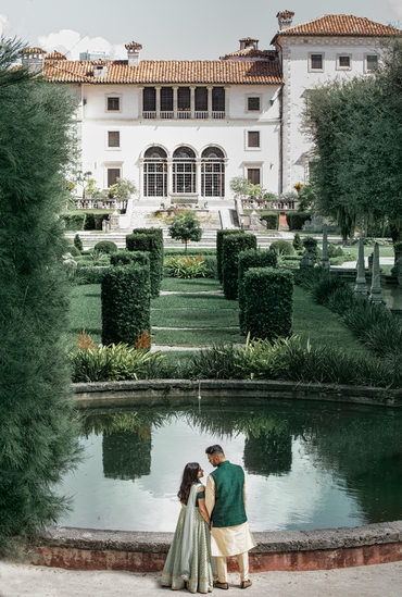 Indian wedding at Vizcaya Museum and Gardens