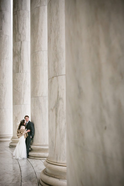 Wedding Photography at Thomas Jefferson Memorial