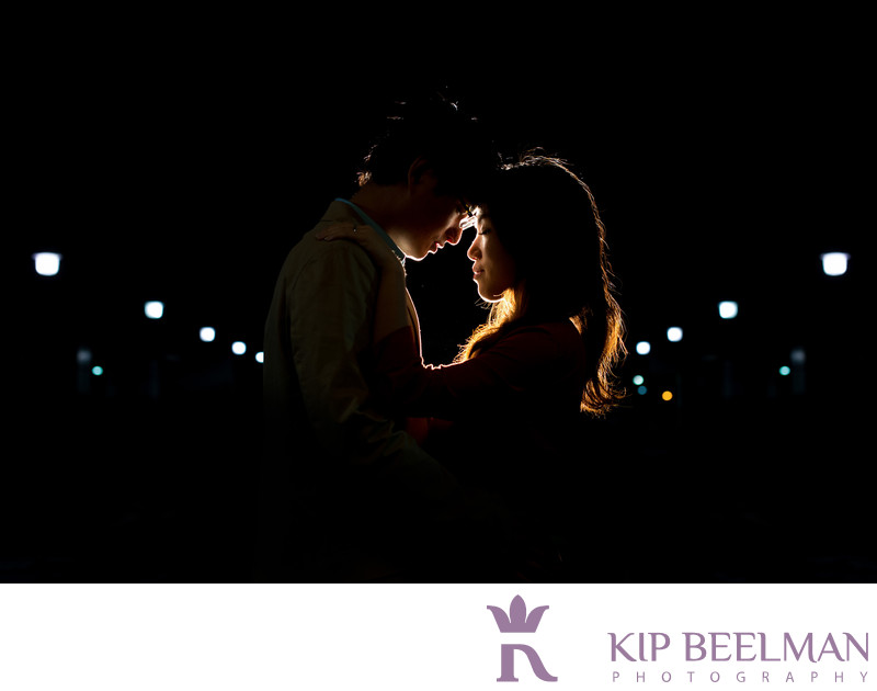 Nighttime Engagement Photography