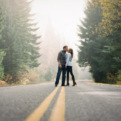 Cascade Mountains Engagement Photography