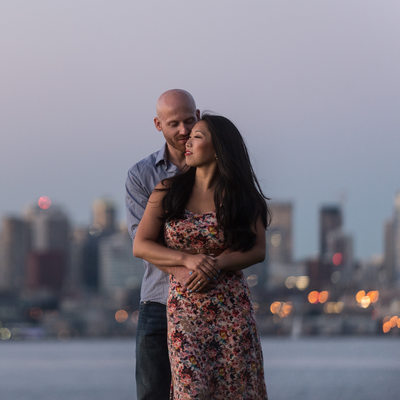 Alki Beach Engagement Photography