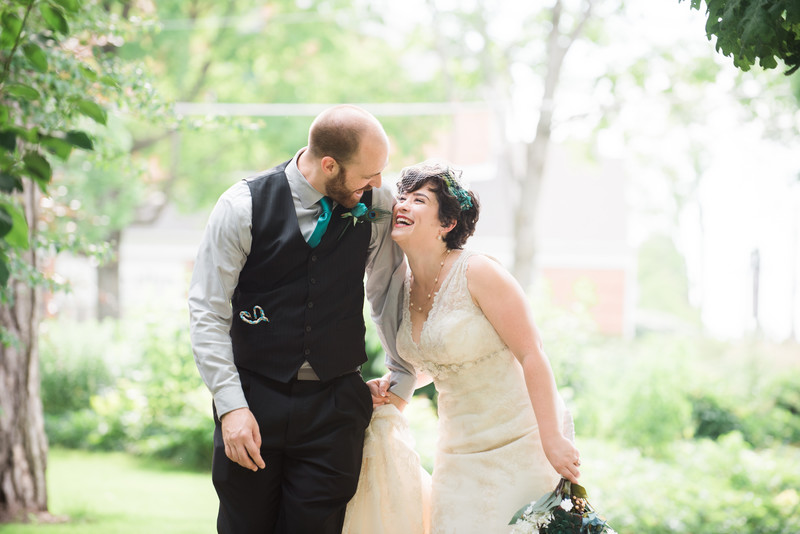 Chicago wedding photography couple walking laughing