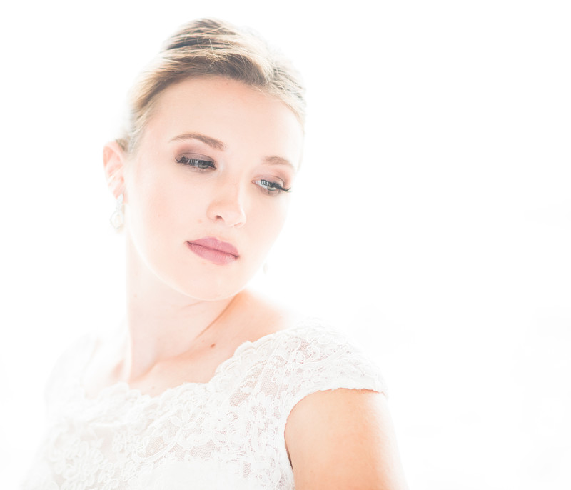High Key Bridal Portrait with Natural window light