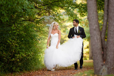 Klehm Arboretum and Botanical Garden wedding walk image