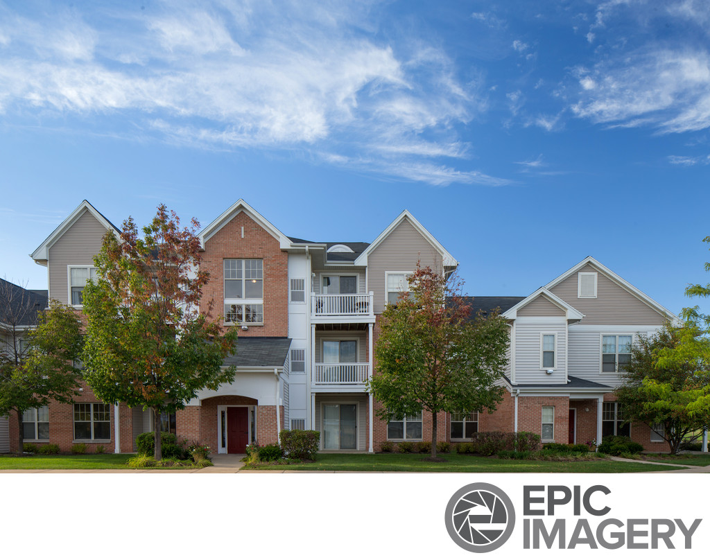 Illinois Apartment Complex Architectural Photography