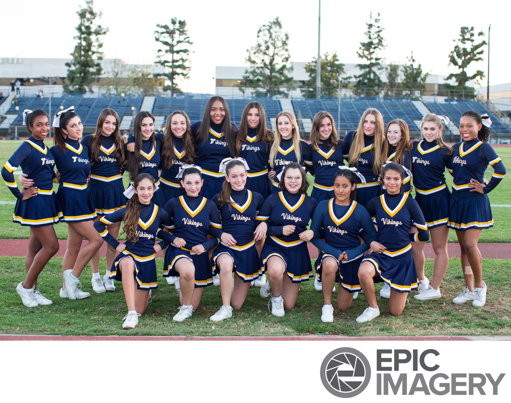 High School Cheerleader Squad Group Photo