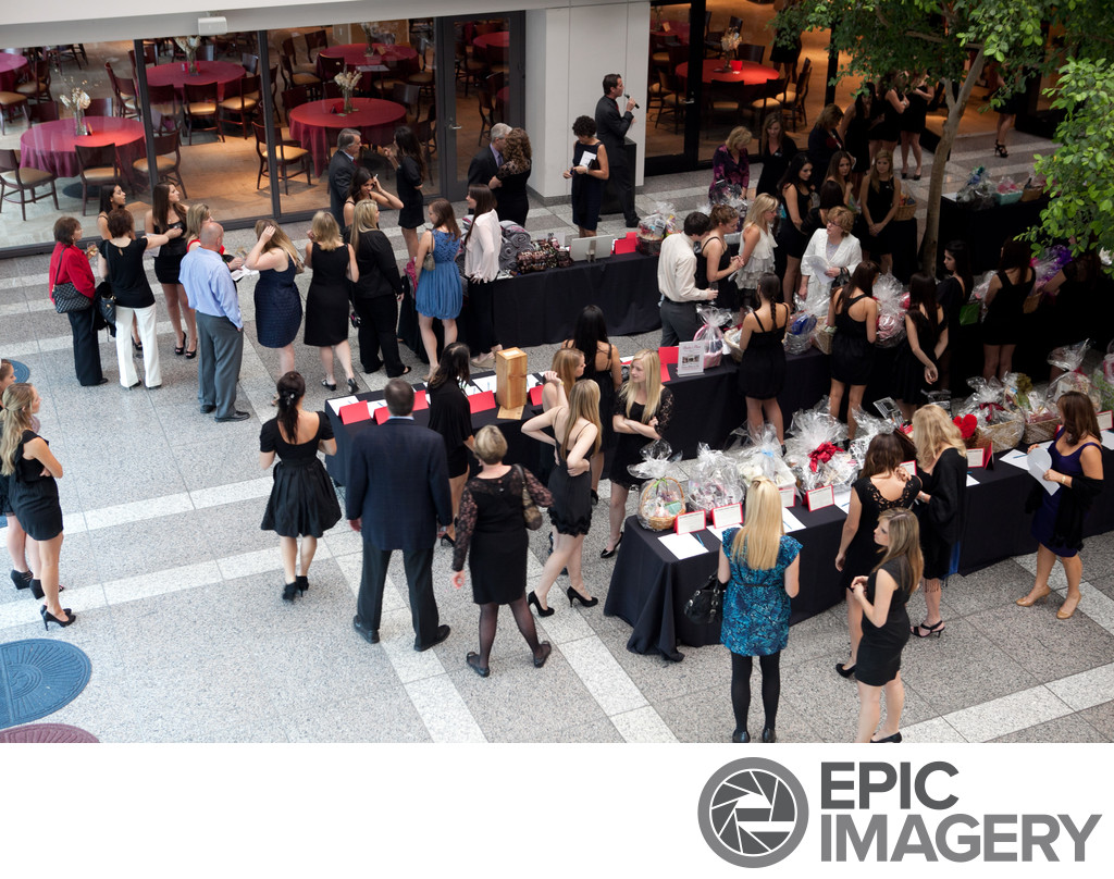 Aerial View of Silent Auction Fundraiser