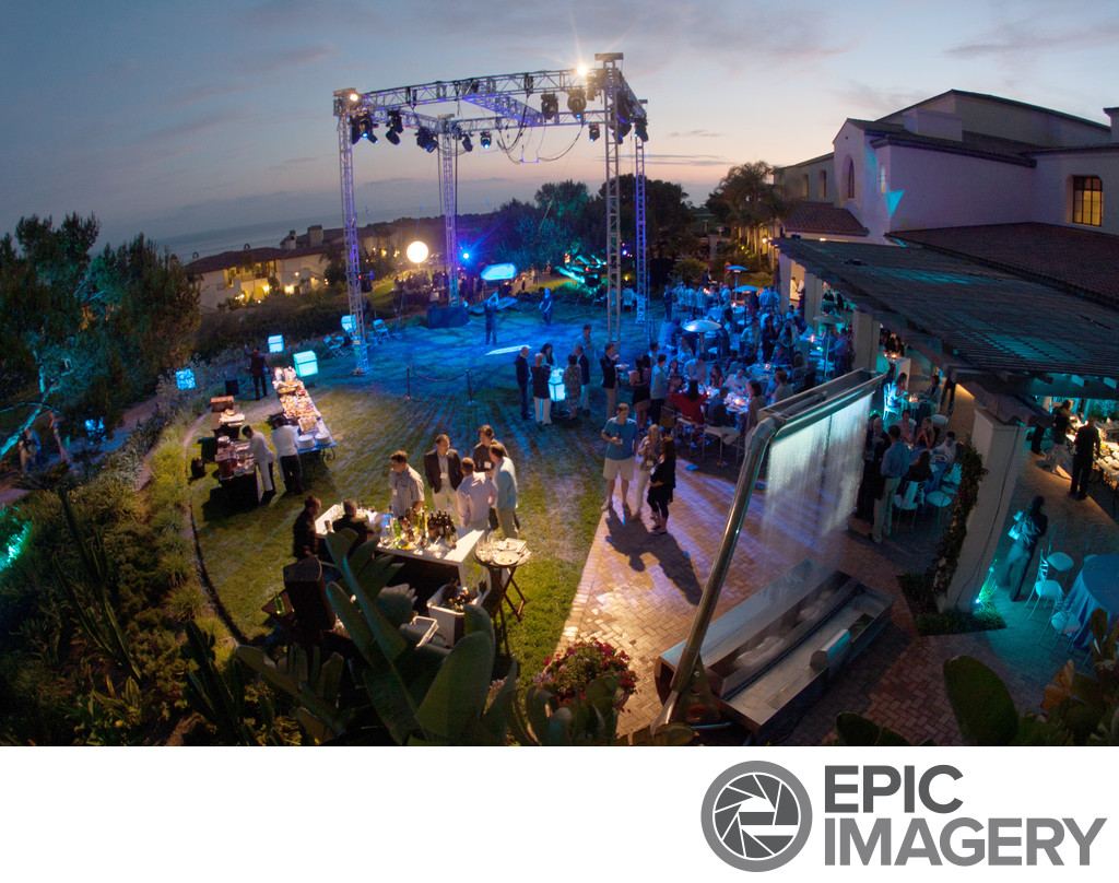 Birds-Eye Scenic at Terranea Resort for Business Dinner