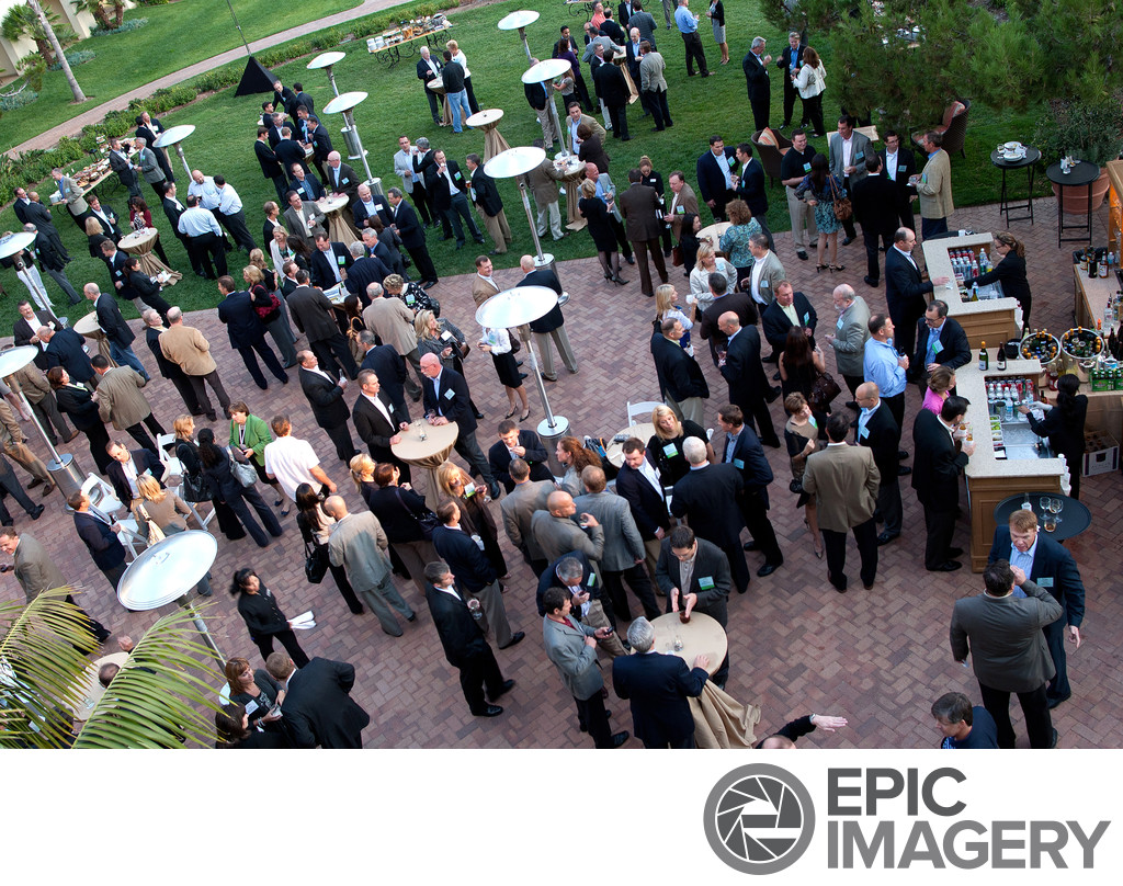 Birds Eye View of Business Cocktail Mixer