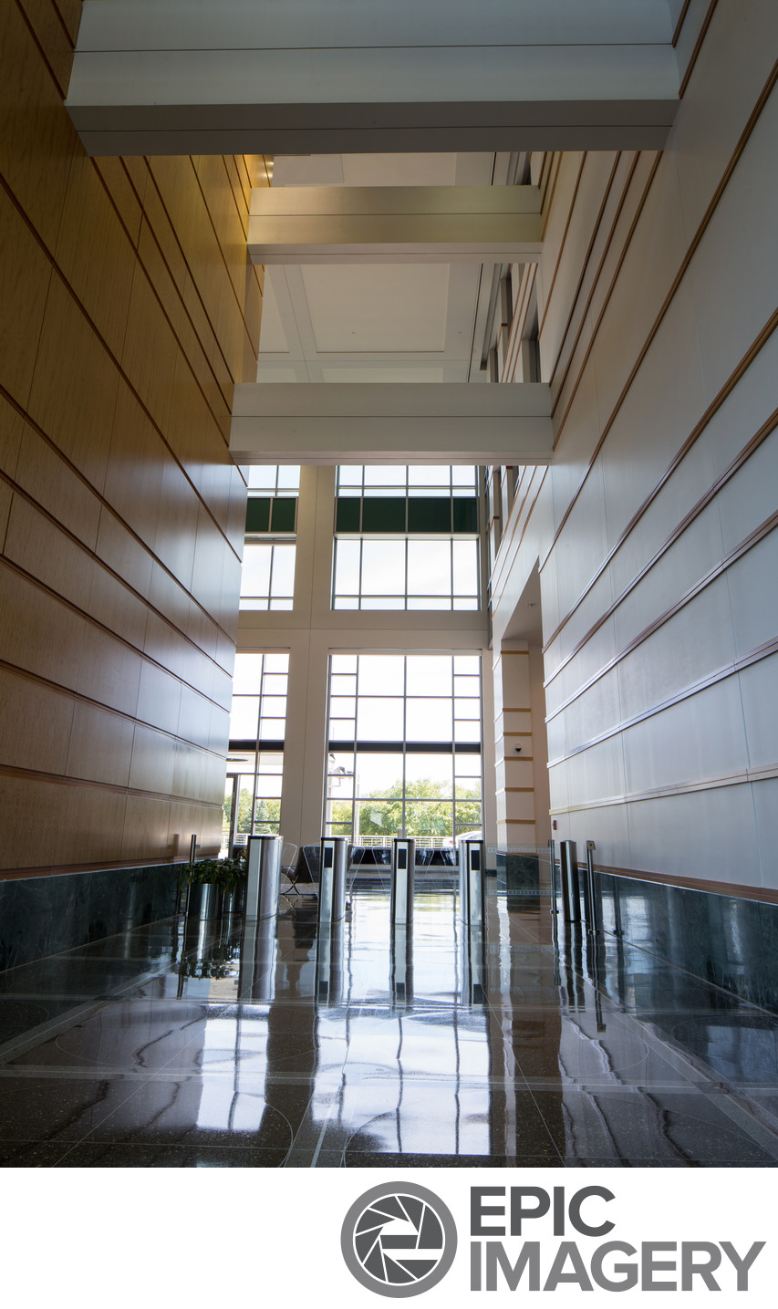 Architectural Interior of Corporate Office Building