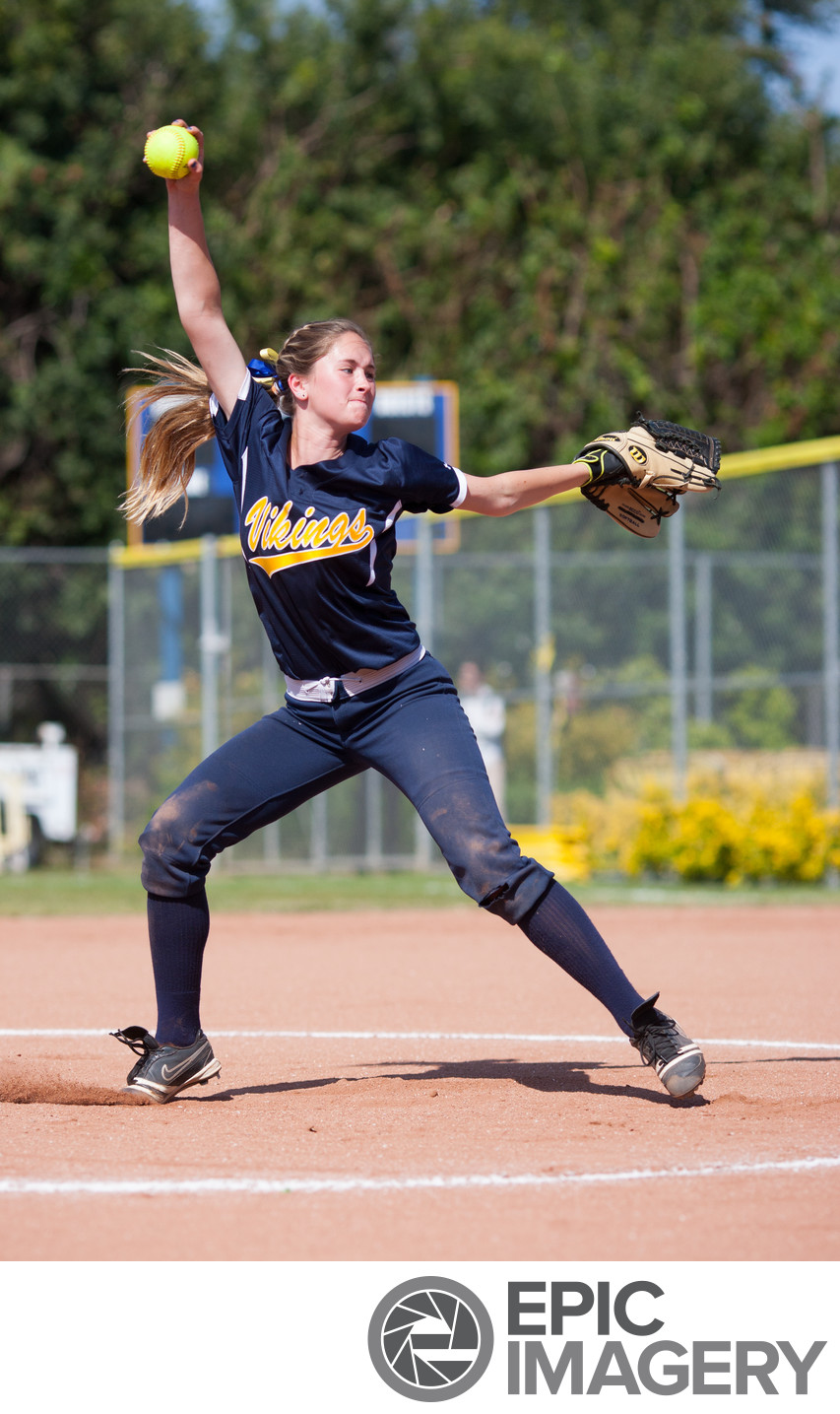 High School Varsity Softball Pitcher
