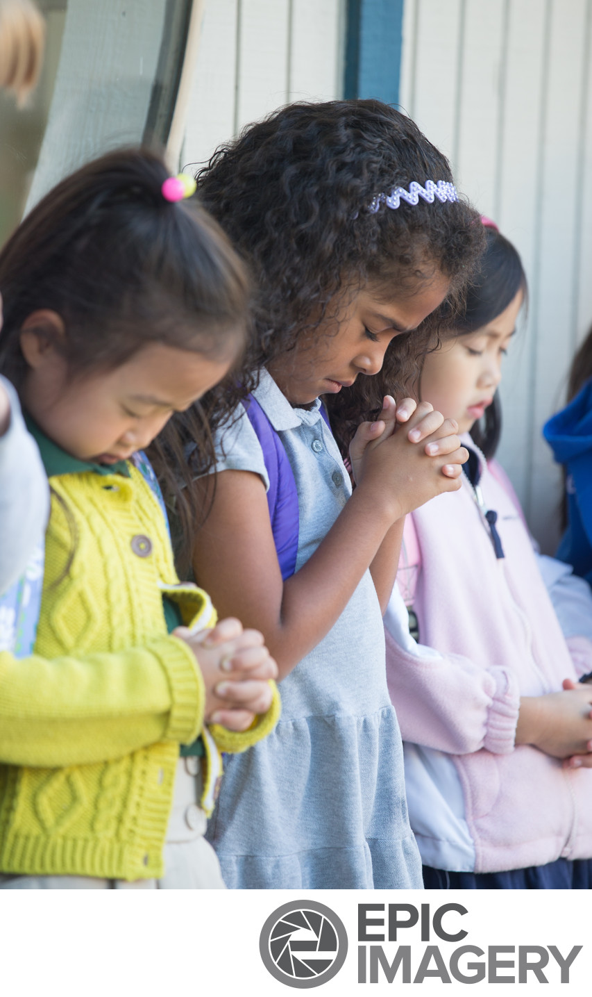 Quiet Moment of Prayer Before School Begins