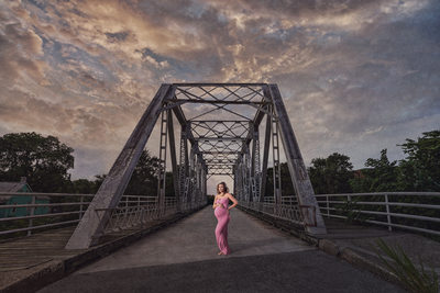Maternity Portrait One Tree Hill Bridge Wilmington NC