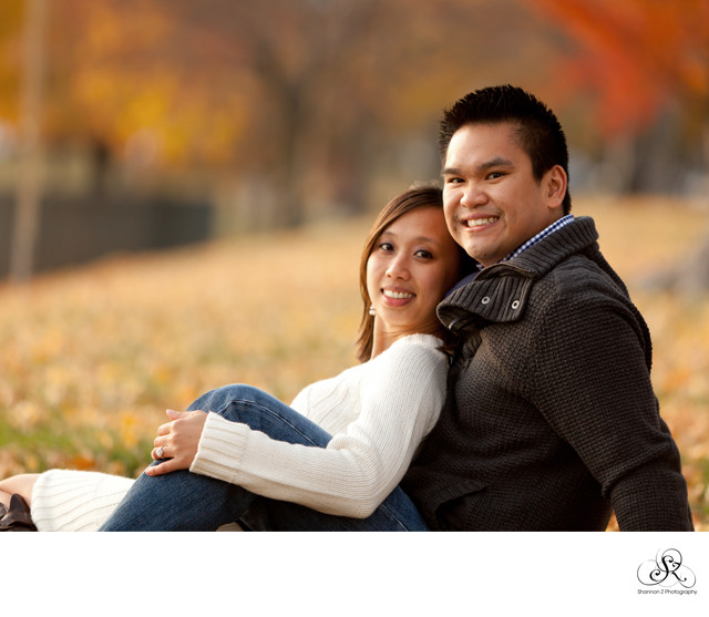 Fall Engagement Portrait: Lake Geneva