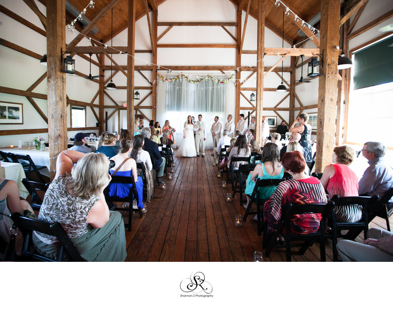 Byron Colby Barn: Indoor Ceremony
