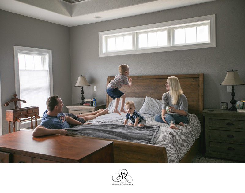 Jump on the Bed: Lifestyle Family Photography