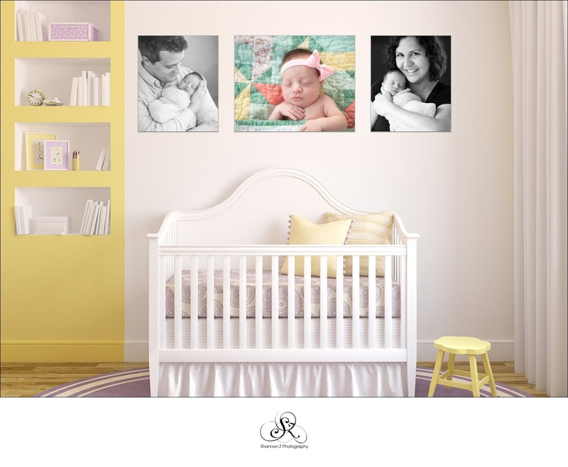 Newborn Canvas Cluster: Nursery Design