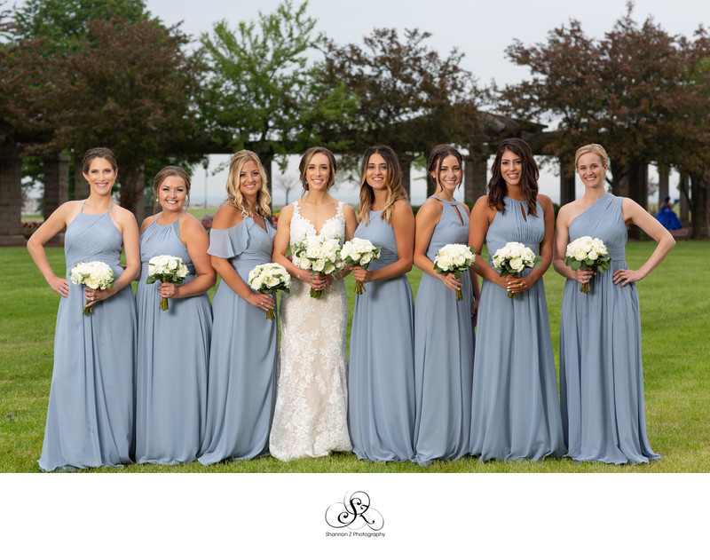 Dusty Blue Dress: Bridesmaids