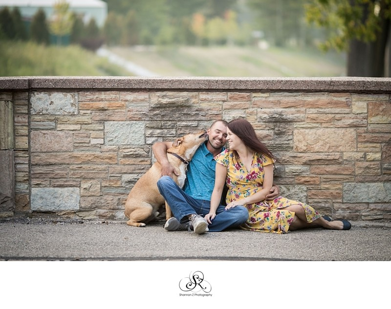 Dogs and Couples: Engagement Photos