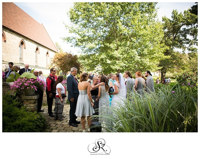 Weddings at DeKoven Center: Mingling Guests