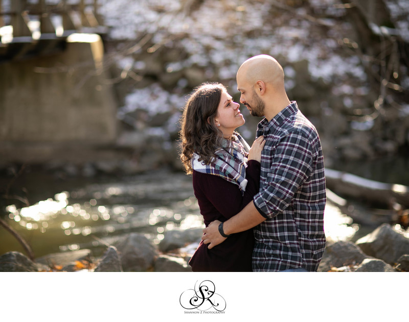 Winter Engagement: Golden Hour