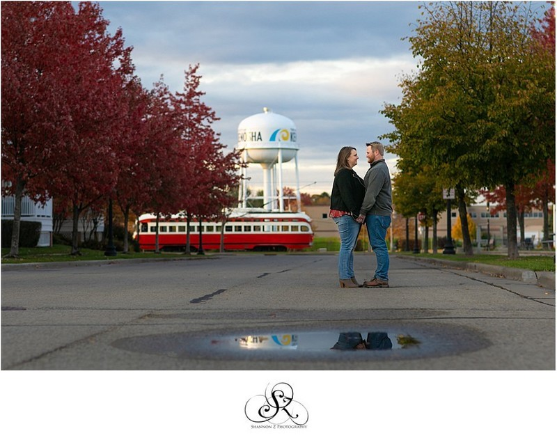 Street Cars and Water Towers: Engagement Photos