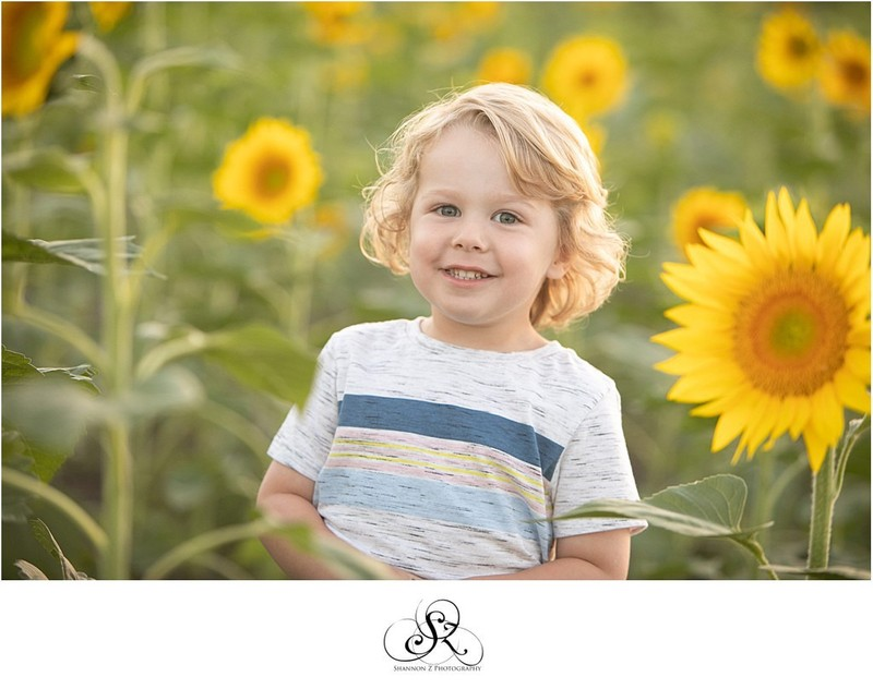Sunflower Portraits: Family Photos