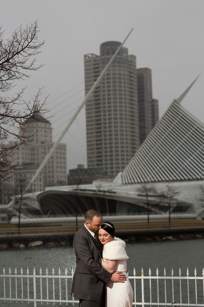 Grey Winter: Wedding Photos in Milwaukee