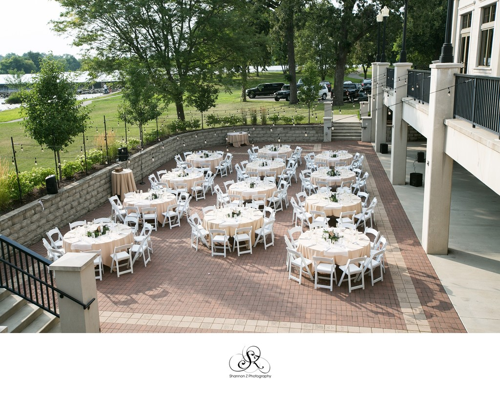 Outdoor Reception Set Up: Veterans Terrace