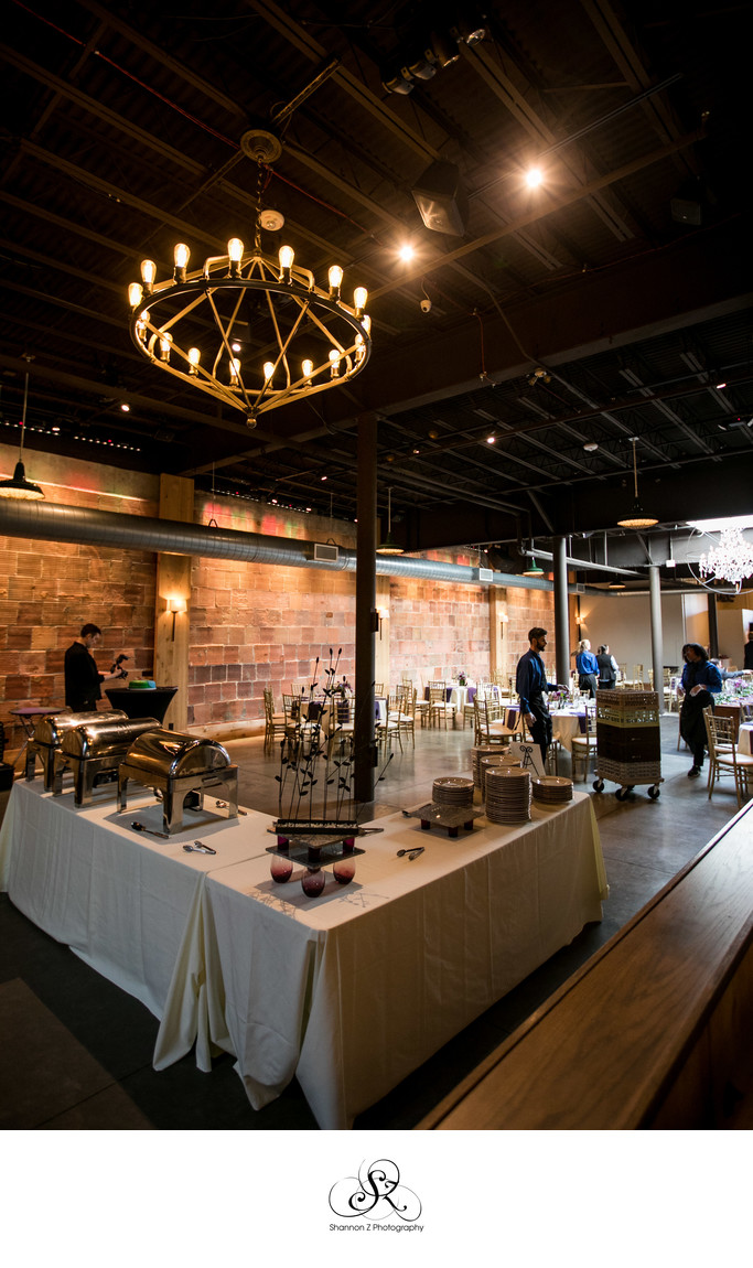 The Atrium: Wedding Buffet set up