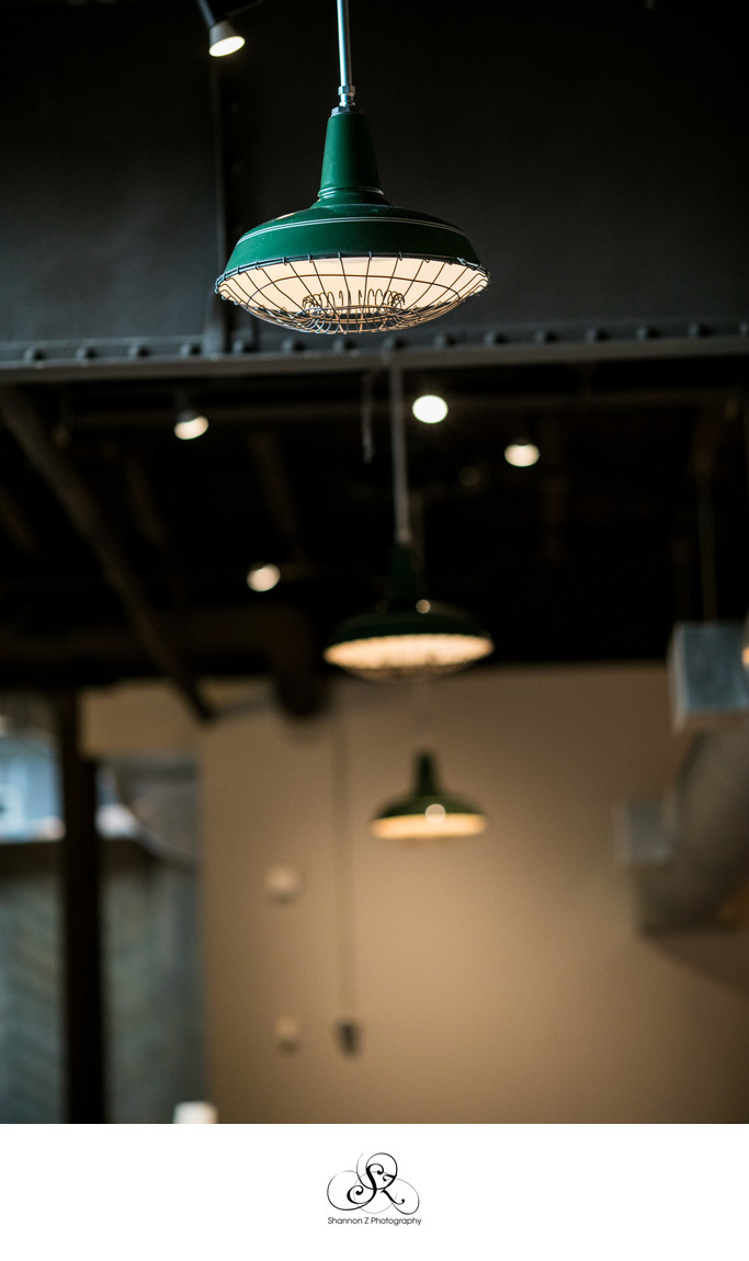 The Atrium: Vintage Light Fixture