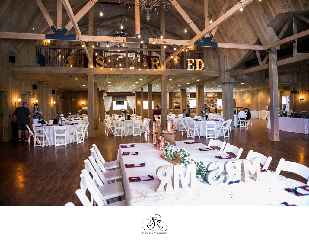 Reception Set up: Rustic Manor 1848