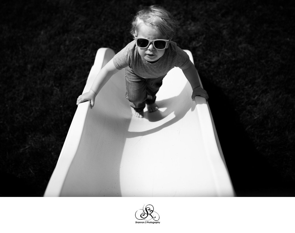 Boy on a Slide: Documentary Family Photography