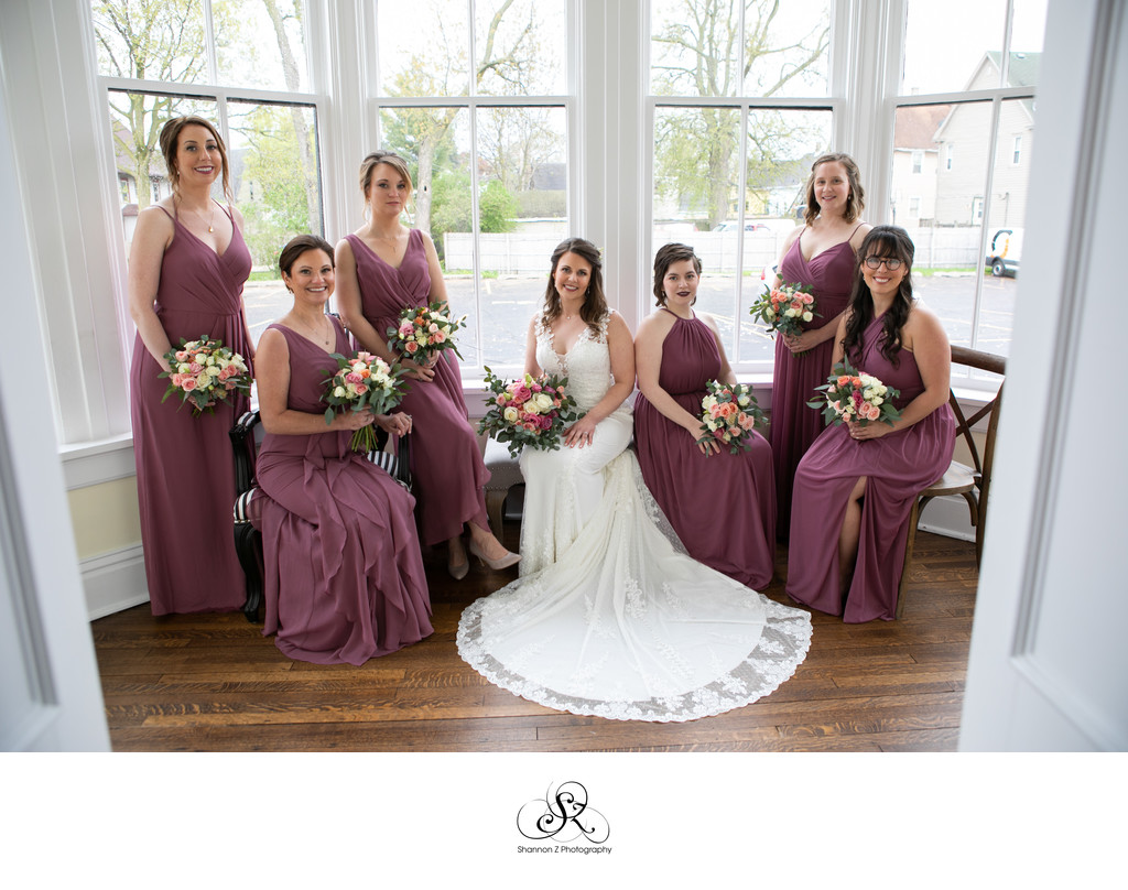 Bride and Bridesmaids: Murray Mansion