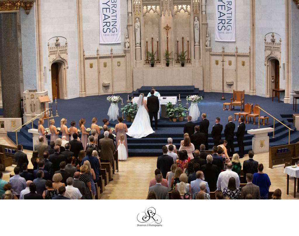Milwaukee Wedding Photographers: Church of the Gesu