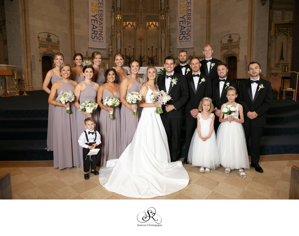 Milwaukee Wedding Photographers: Gesu Wedding Party