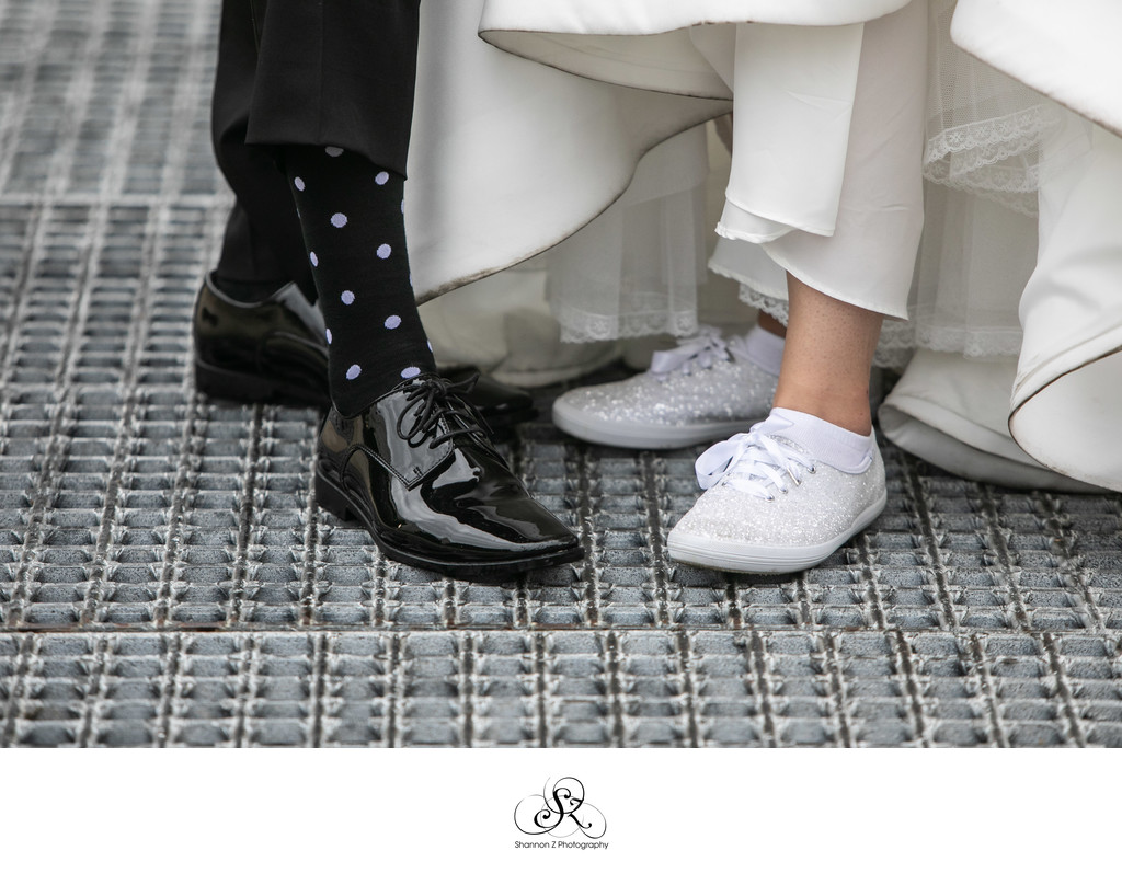 Sparkly Shoes: Milwaukee Wedding Photographers