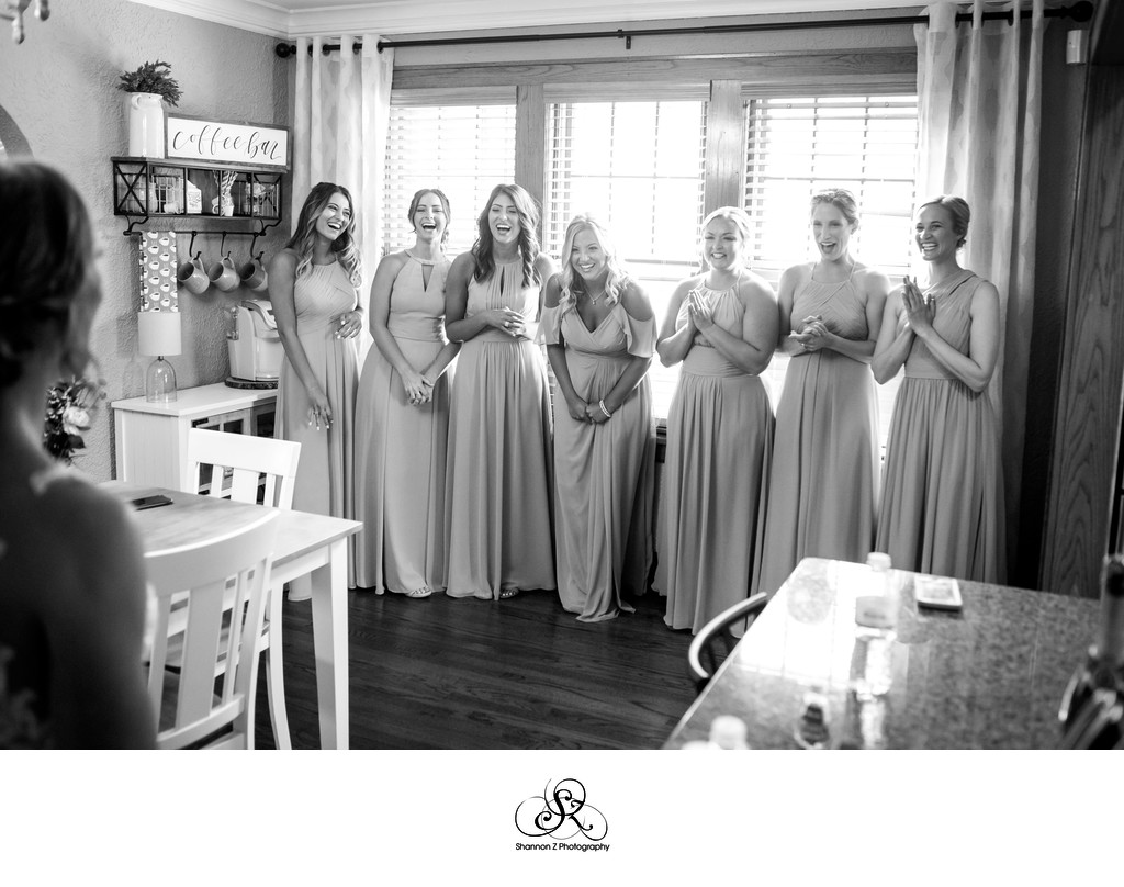 Bridesmaids Reveal: Bride First Look