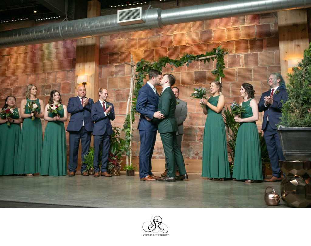 The Kiss: LGBTQ Friendly Wedding Photography