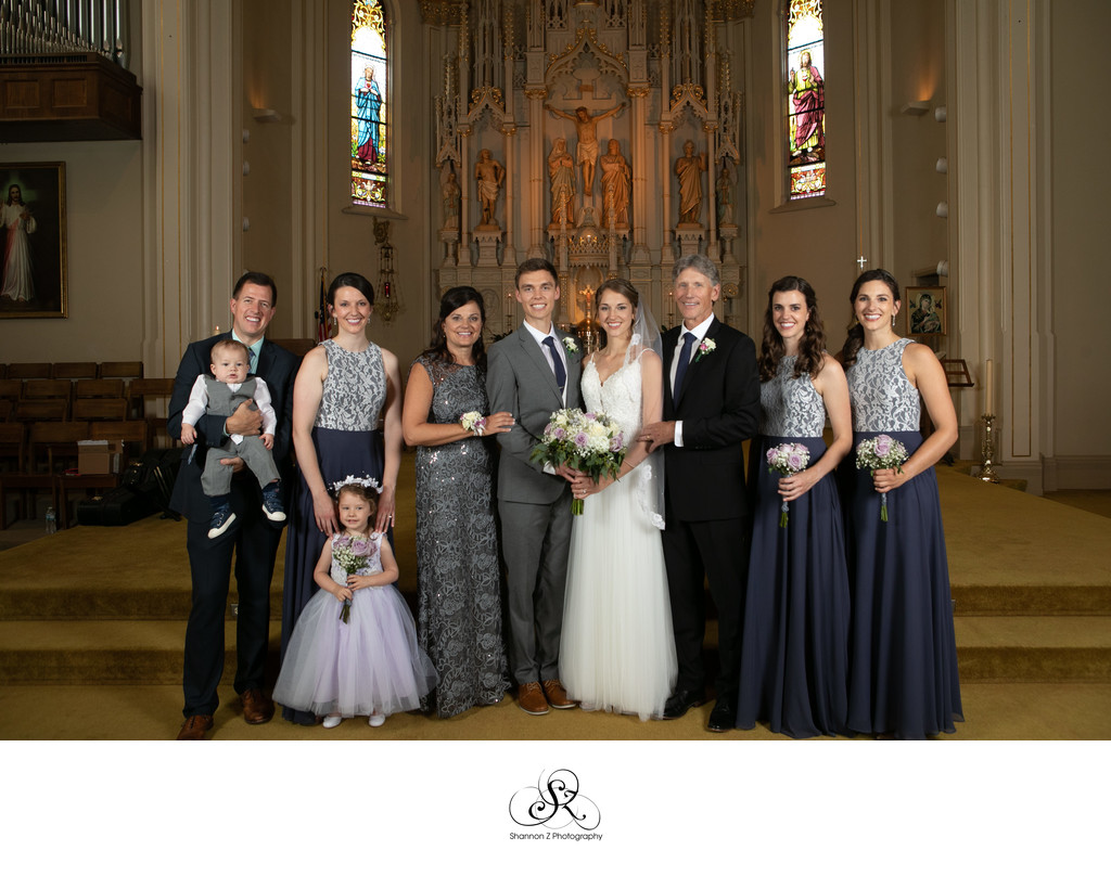 Burlington Wedding Photographer: Formal Family Photos
