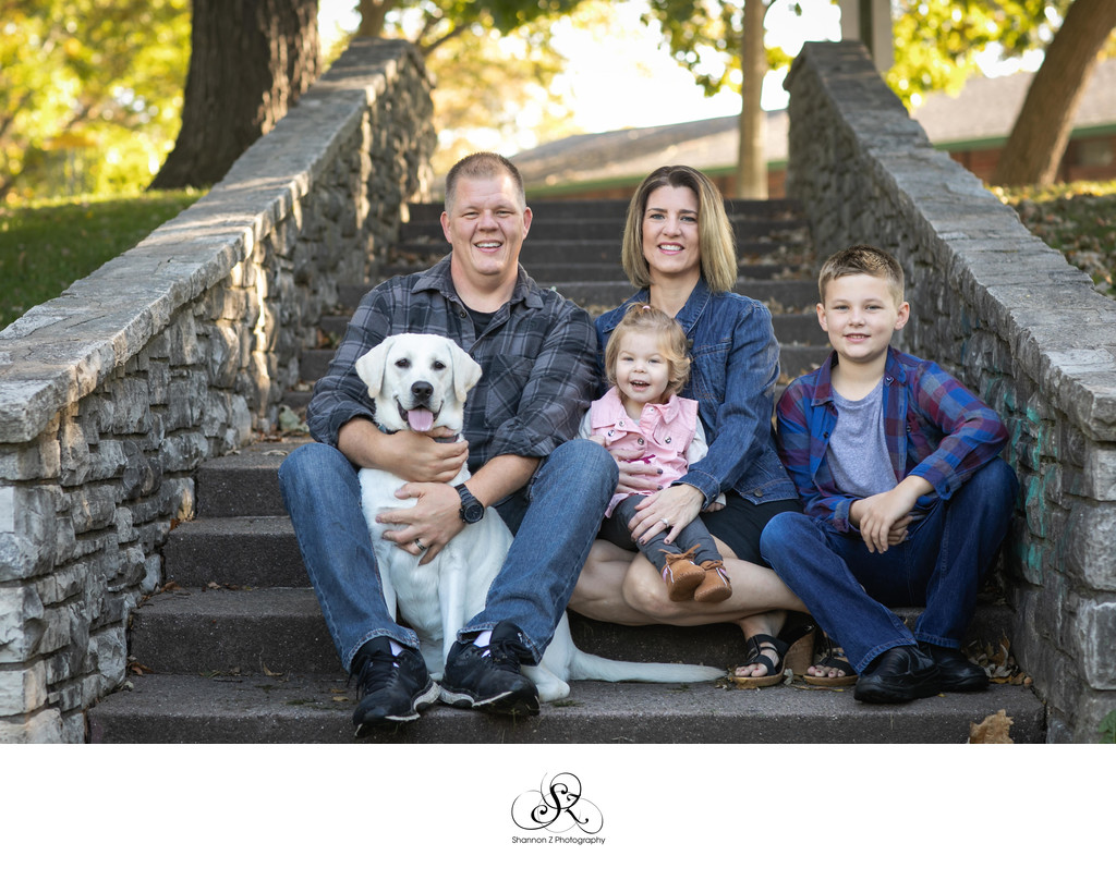 Family Photos with Dogs: Kenosha Photographer