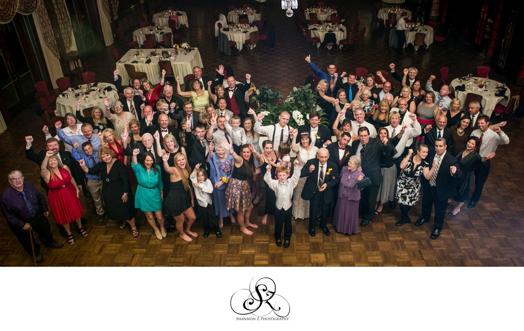 Full Guest Photo: The Wisconsin Club Wedding