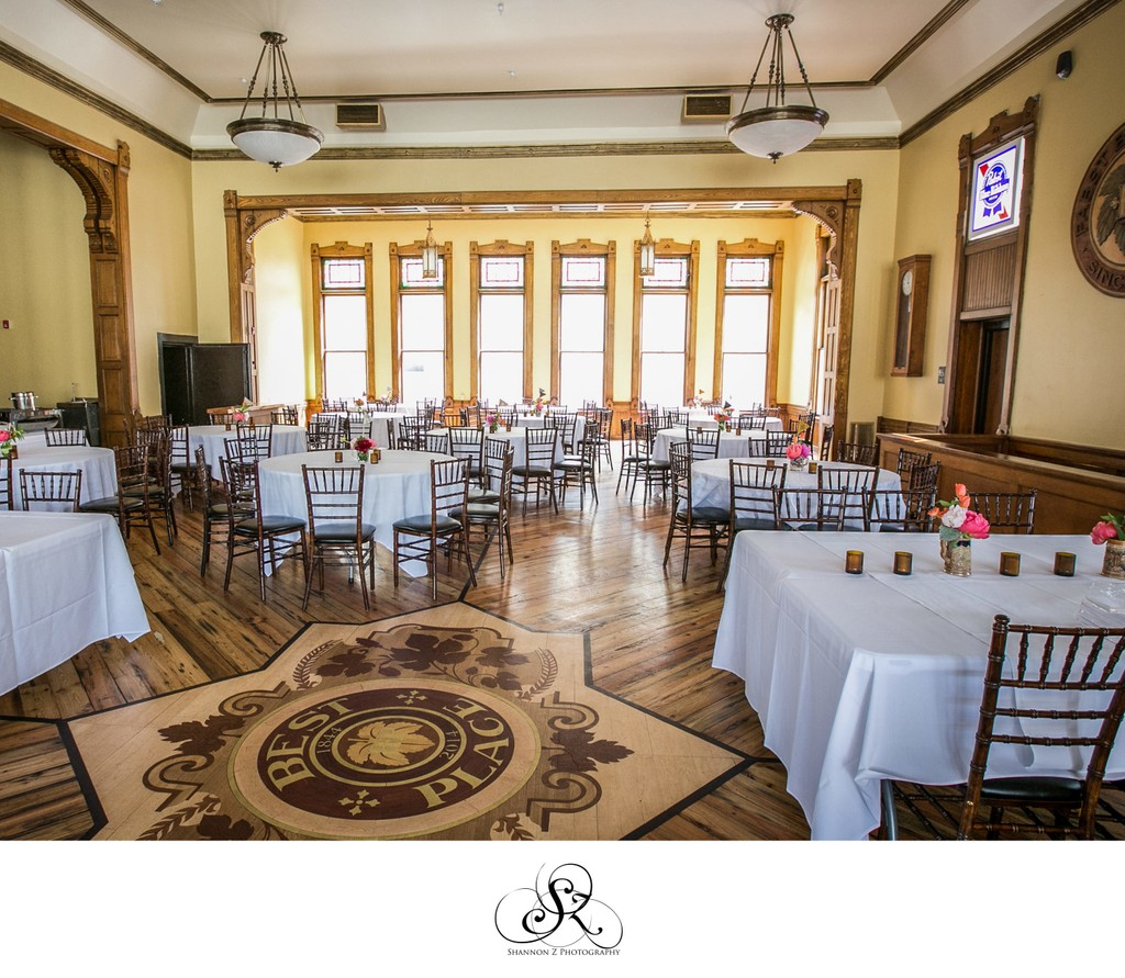 Historic Pabst Brewery: Reception Set Up